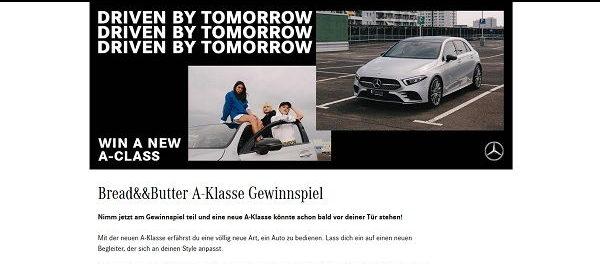 Auto Gewinnspiel Mercedes Benz verlost A-Klasse