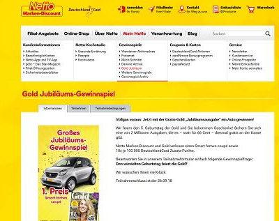 Auto Gewinnspiel Netto Marken-Discount Smart gewinnen