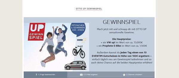 Auto Gewinnspiel Otto Versand VW UP gewinnen