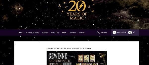 Carlsen Verlag Harry Potter Gewinnspiel alle Bände gewinnen