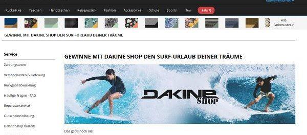 Dakine Shop Surf Reisen Gewinnspiel 2018