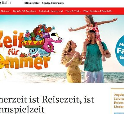 Deutsche Bahn Sommer Gewinnspiel Familienreise und Sachpreise gewinnen