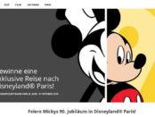 Disney Gewinnspiel Paris Reise Disneyland Micky Maus 90. Jubiläum