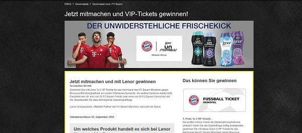 EDEKA Gewinnspiel FC Bayern VIP Tickets und Fanartikel