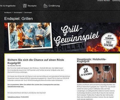 EDEKA Grill Gewinnspiel 5 Rösle Kugelgrill und Gutscheine