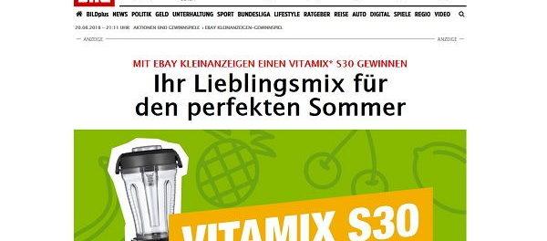 Ebay Kleinanzeigen und Bild.de Gewinnspiel Vitamix S30 Standmixer