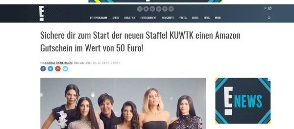 Eonline Gewinnspiel 50 Euro Amazon Gutschein