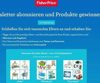 Fisher-Price Gewinnspiel monatlich 3 Produktpakete gewinnen