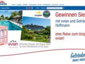 Getränke Hoffmann Evian Reise Gewinnspiel 2018