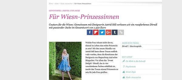 Glamour Gewinnspiel Astrid Söll Designer Dirndl gewinnen