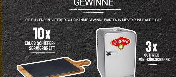 Gutfried Gewinnspiel Mini-Kühlschrank und Servierbretter