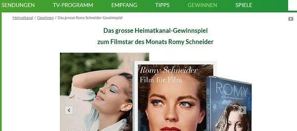 Heimatkanal Romy Schneider Gewinnspiel DVD und Buch