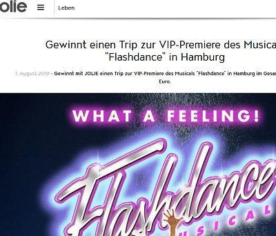 Jolie Gewinnspiel Flashdance Musical Hamburg Reise