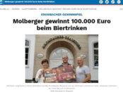 Krombacher Millionen Roulette Gewinnspiel 100.000 Euro Gewinner