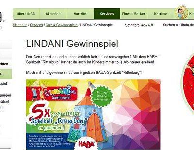 Linda Apotheken Gewinnspiel 5 HABA Spielzelt Ritterburg