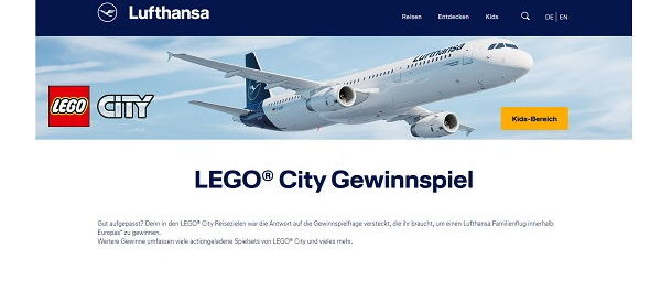 Lufthansa Lego City Gewinnspiel Familienflug und Lego Sets