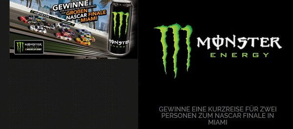 Monster Energy Gewinnspiel Miami Reise Nascar Finale