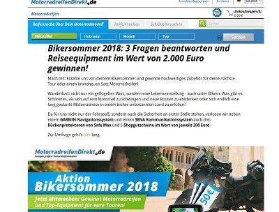 MotorradreifenDirekt Gewinnspiel Bikersommer 2018