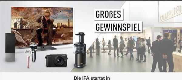 Panasonic IFA 2018 Gewinnspiel zahlreiche E-Geräte