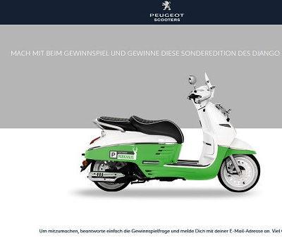 Peugeot Motorroller Gewinnspiel Parkhaus Platzhirsch