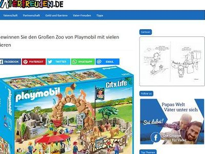 Playmobil Gewinnspiel Vaterfreuden Großer Zoo