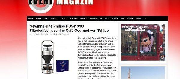 Promi Eventfotos Gewinnspiel Tchibo Filterkaffeemaschine