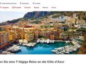 Reise Gewinnspiel Kaufland 7 Tage Cote d Azur Urlaub