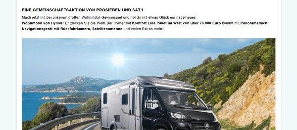 Reisemobil Gewinnspiel