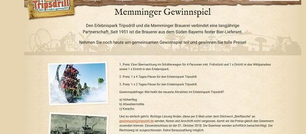 Tripsdrill Erlebnispark Gewinnspiel Übernachtung und Eintrittskarten