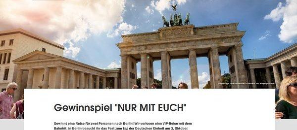 Visit Berlin VIP Reise Gewinnspiel