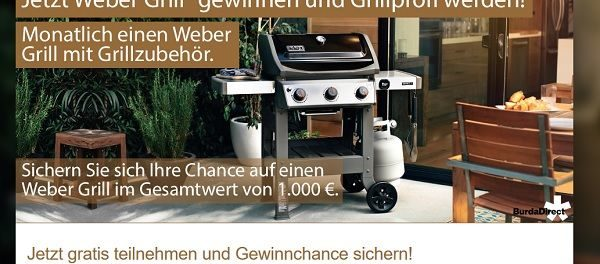 Weber Grill Gewinnspiel BurdaDirect