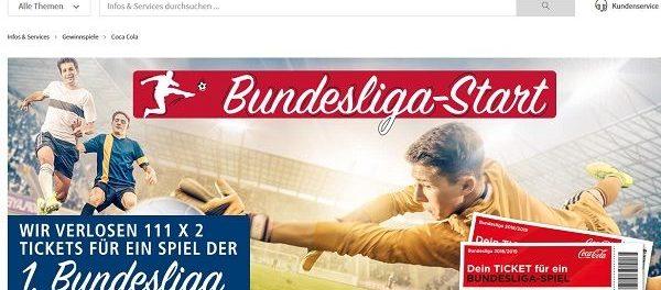 real und Coca Cola Gewinnspiel 111 mal 2 1. Bundesliga Tickets