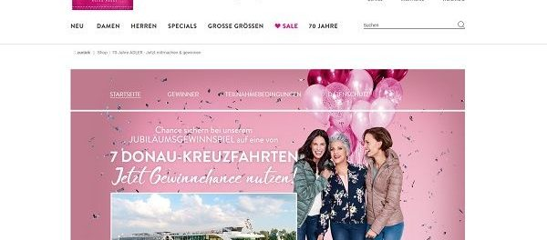 Adler Mode Donau Kreuzfahrt Gewinnspiel