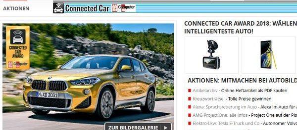 Auto Bild Gewinnspiel BMW X2 gewinnen Connected Car Award 2018