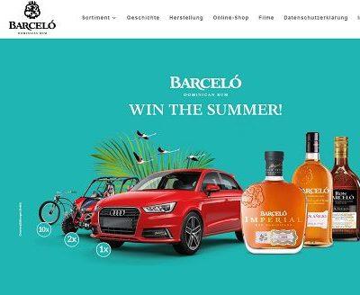 Auto Gewinnspiel Audi A1 und Strandbuggy Barcelo Rum