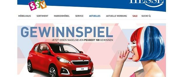 Auto Gewinnspiel Peugeot 108 Möbel Hesse