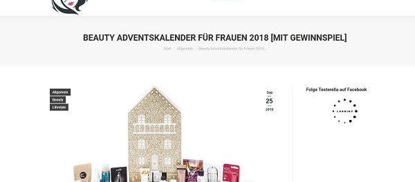 Beauty Adventskalender Gewinnspiel Testerella 2018