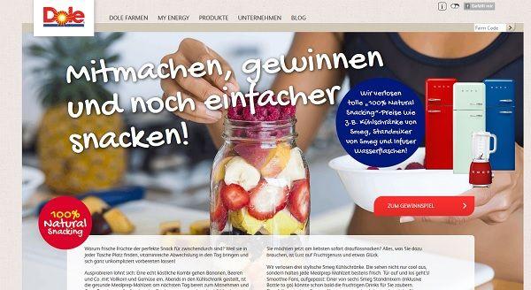 Smeg Kühlschrank Vw : Dole gewinnspiel smeg kühlschränke und standmixer