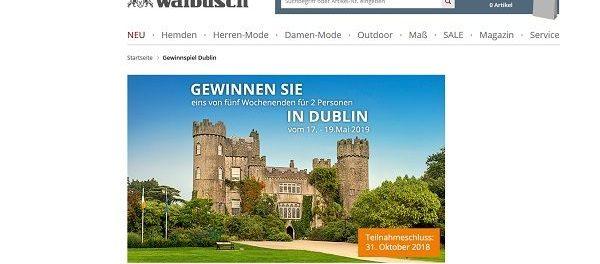 Dublin Reisen Gewinnspiel Walbusch