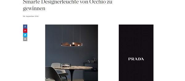 Elle Gewinnspiel Occhio Designerleuchte gewinnen