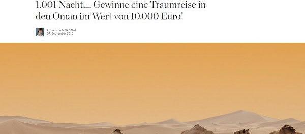 Elle Gewinnspiel Oman Traumreise 10.000 Euro