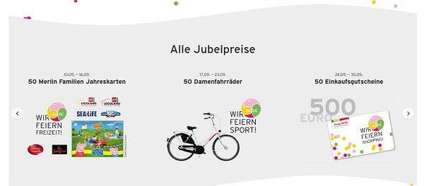 Ernstings Family Gewinnspiel 50 Damenfahrräder