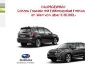 Frankonia Versand Auto-Gewinnspiel Subaru Forester