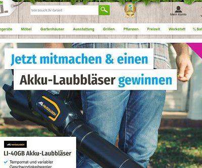 GartenXXL Gewinnspiel Akku-Laubbläser