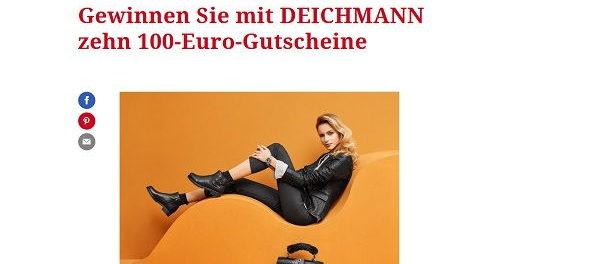 Gewinnspiel Freundin verlost 10 Deichmann Gutscheine