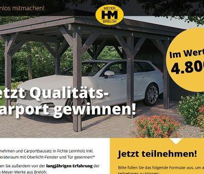HM Werke Gewinnspiel Carportbausatz gewinnen