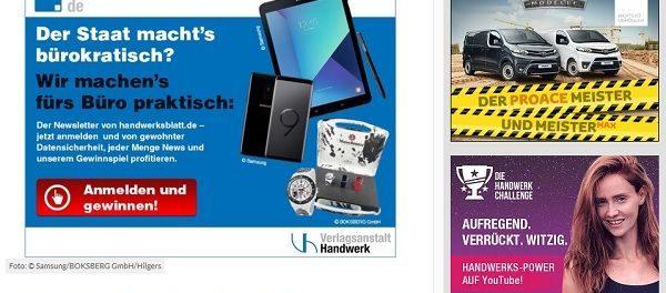 Handwerksblatt Gewinnspiel Samsung Galaxy S9 Smartphone