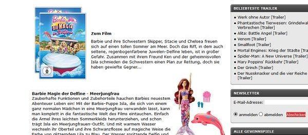 Kino News Gewinnspiel Barbie DVDs und Zubehör