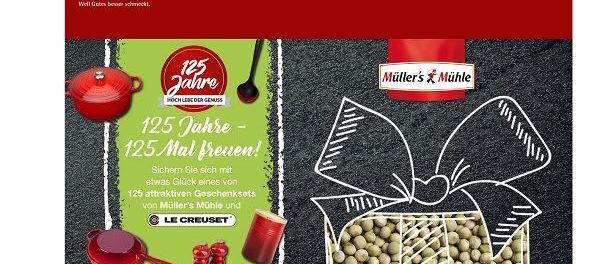 Müllers Mühle Gewinnspiel 125 Geschenksets