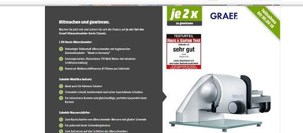 Media Markt Gewinnspiel 2 Graef Allesschneider